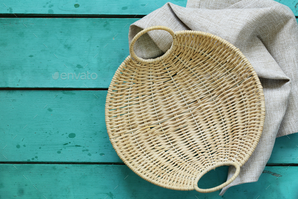Wicker Empty Basket  - Stock Photo - Images