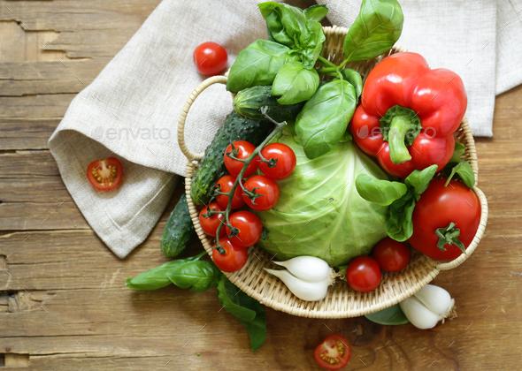Fresh Spring Vegetables - Stock Photo - Images