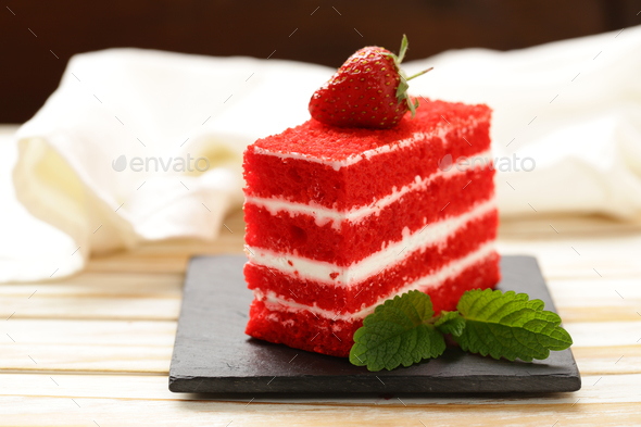 Piece of Delicious Cake - Stock Photo - Images