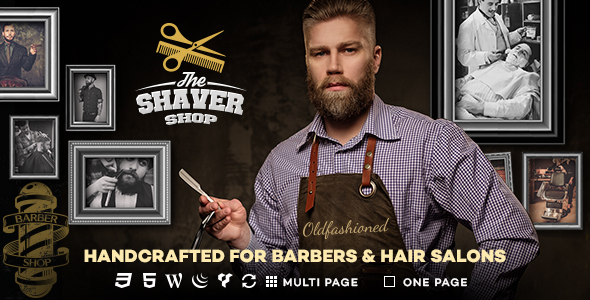 Shaver - Barbers & Hair Salon WordPress Theme - Health & Beauty Retail
