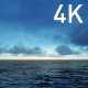 Dark Gray Clouds in the Evening Sky and the Blue Ocean - VideoHive Item for Sale
