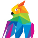 Colorful Polygon Owl Logo