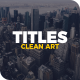 Clean Art Titles - VideoHive Item for Sale