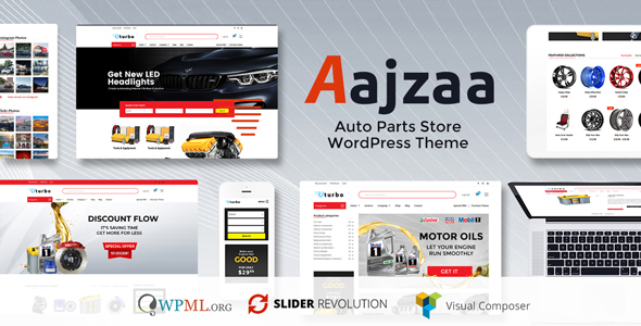 Ajzaa - Auto Parts Store WordPress Theme - Retail WordPress