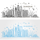 Shanghai Architecture Line Skyline - GraphicRiver Item for Sale