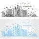Shanghai Architecture Line Skyline - GraphicRiver Item for Sale