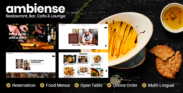 Ambiense - Restaurant & Cafe WordPress Theme - Restaurants & Cafes Entertainment