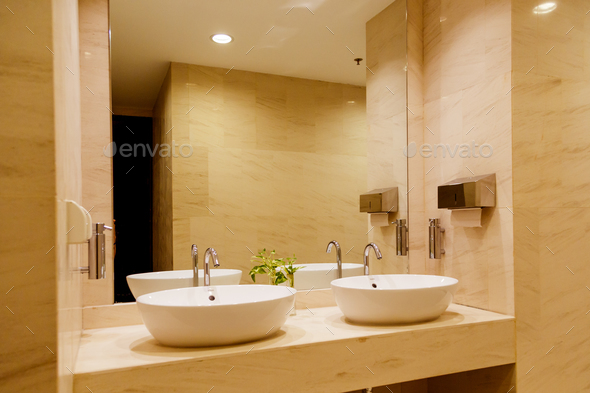 Stylish double bathroom - Stock Photo - Images