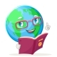 Reading Book Earth - GraphicRiver Item for Sale