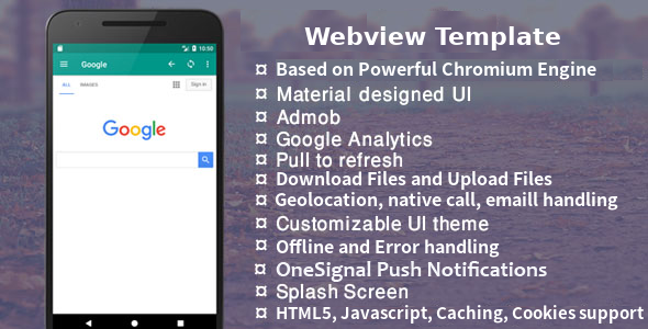 Easy Web - Android Native Webview Template with Admob + Push Notification - CodeCanyon Item for Sale