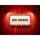 Retro Cinema or Theater Frame Illuminated