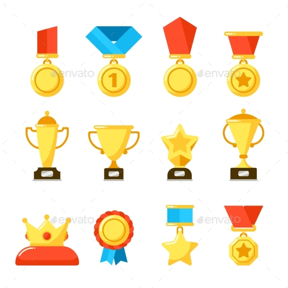 Sport Trophy Award, Gold Championship Goblet  - Miscellaneous Vectors