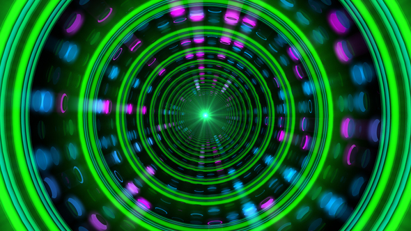 rings technology clip neon in footage fast tunnel with of seamless light animation video moving stock background abstract from loop