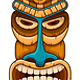 Tiki Wooden Mask