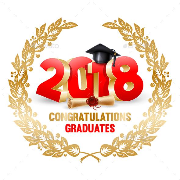 Congratulations Graduates - Miscellaneous Vectors