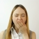 Tired and Sleepy Young Woman Yawning - VideoHive Item for Sale