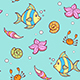 Doodle Marine Pattern with Fish - GraphicRiver Item for Sale
