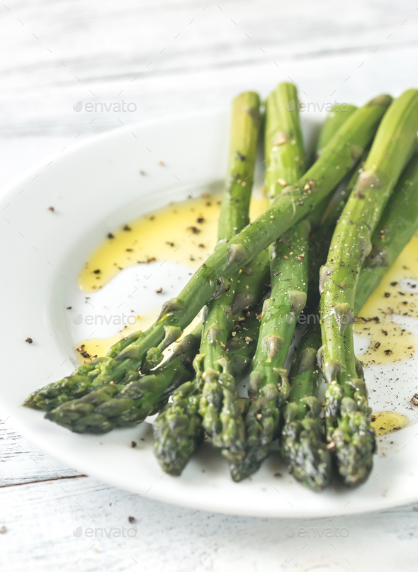 Cooked asparagus - Stock Photo - Images