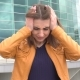 Portrait of Stressed Very Beautiful Girl with Head Pain Outdoor in the City - VideoHive Item for Sale