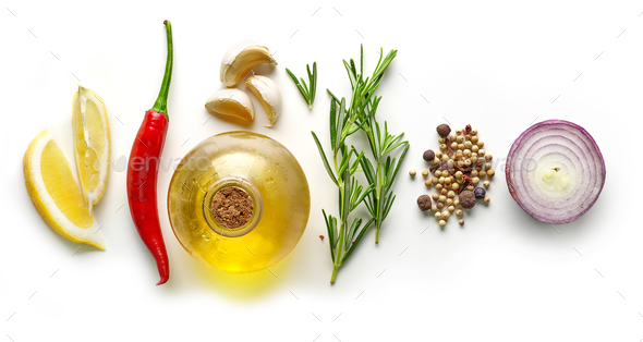 various ingredients for making marinade - Stock Photo - Images