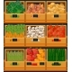 Vegetables at Market in Wooden Boxes with Prices - GraphicRiver Item for Sale
