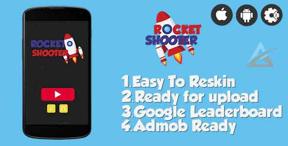 Rocket Shooter- HTML5 Game + Mobile Version! (Construct-2 CAPX)            Nulled
