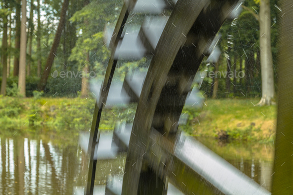 Blurred paddle wheel - Stock Photo - Images