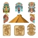 Historical Symbols of Mayan Culture. Religion - GraphicRiver Item for Sale