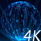 Abstract Sphere of Blue Particles with Light Rays - VideoHive Item for Sale