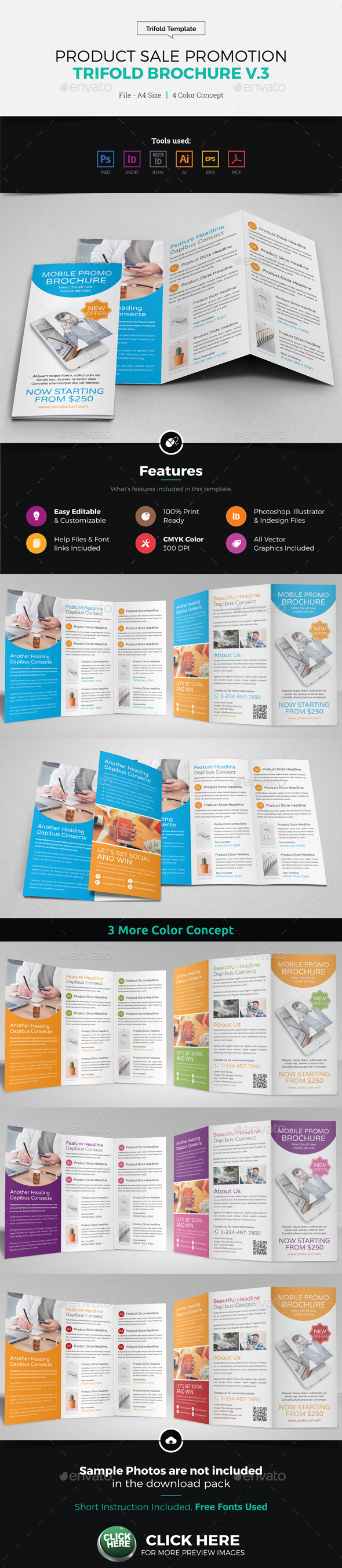 Product Sale Promotion Trifold Brochure v3 - Corporate Brochures
