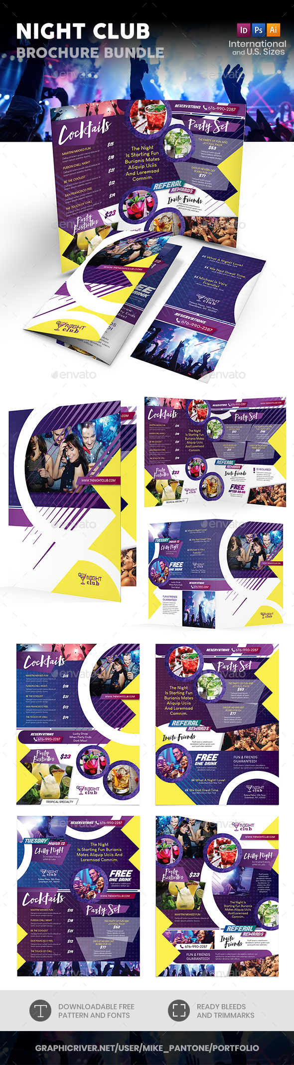 Night Club Print Bundle - Informational Brochures