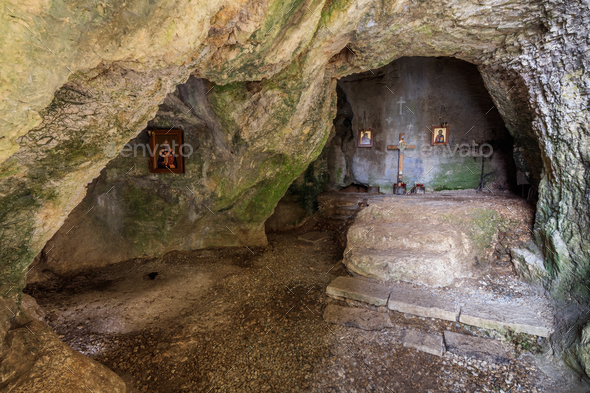 The cave of St. John Casian - Stock Photo - Images