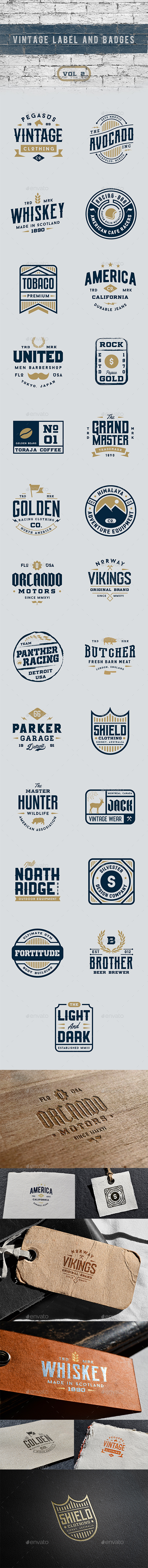 Vintage Label and Badges Vol 2 - Badges & Stickers Web Elements