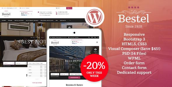 Image of Bestel Hotel WordPress Theme