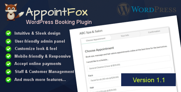 AppointFox - WordPress Appointment Booking System - CodeCanyon Item for Sale