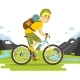 Bike Man Travel - GraphicRiver Item for Sale