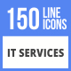 150 IT Services Filled Line Icons - GraphicRiver Item for Sale