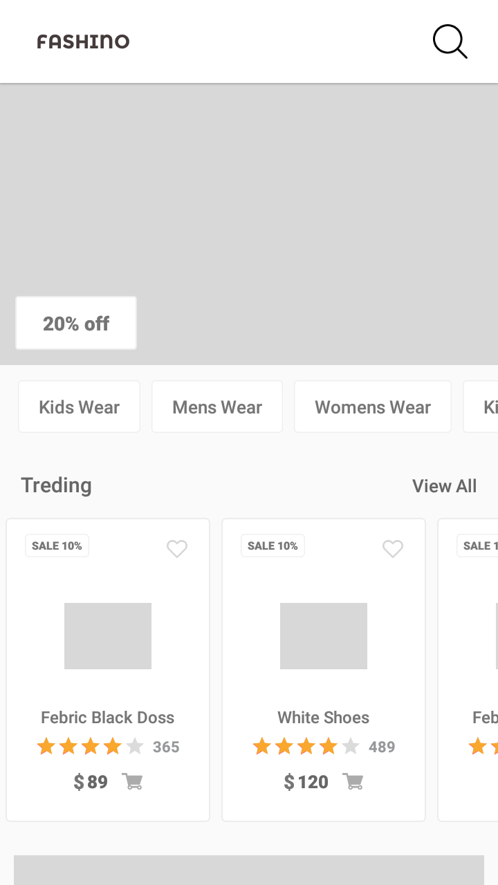 Fashino Ecommerce Android app UI template With Xml Source Code