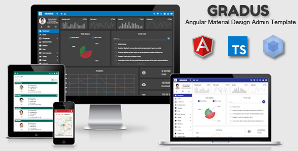 Image of Gradus - Angular 6 Material Design Admin Template