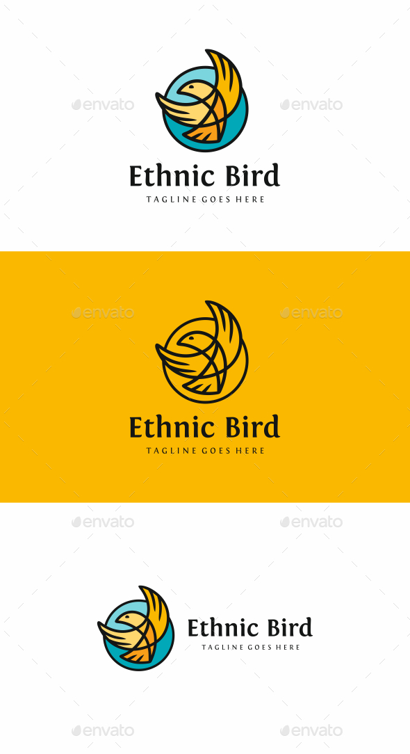 Ethnic Bird - Animals Logo Templates