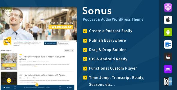 Sonus - Podcast & Audio WordPress Theme
