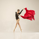 Modern ballet dancer dancing in full body on white studio background. - PhotoDune Item for Sale