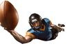 one american football player man studio isolated on white background - PhotoDune Item for Sale