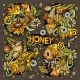 Vector Cartoon Set of Honey Theme Objects - GraphicRiver Item for Sale