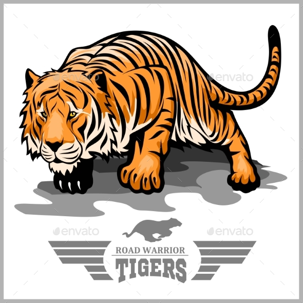 Tiger Attack - Sport Mascot Style - Animals Characters