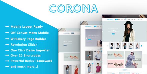 Corona - Clothing & Fashion Model Responsive WooCommerce WordPress Theme