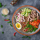 Buckwheat noodles  with beef, eggs and vegetables. Korean food - PhotoDune Item for Sale