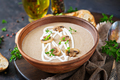 Mushroom cream soup. Vegan food. Dietary menu. - PhotoDune Item for Sale