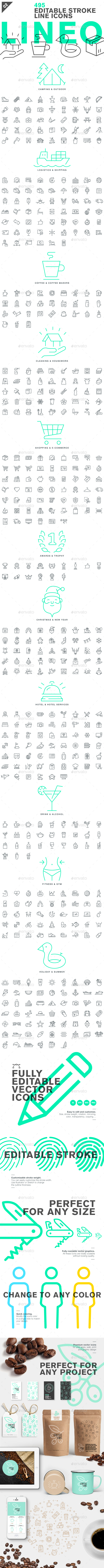 Lineo - Pack 2 - 495 Icons - Icons
