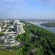 Aerial Top View of Kyiv and Dnieper River - VideoHive Item for Sale